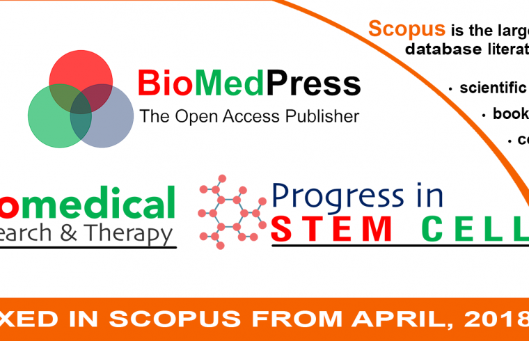 Two journals of Biomedpress are added to Scopus from April